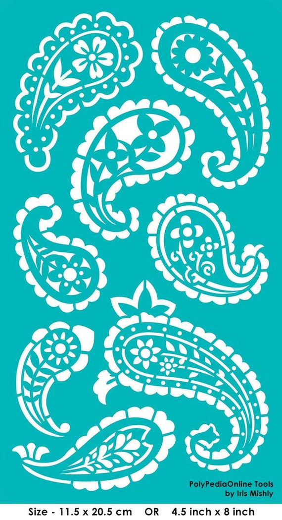 Do It Yourself Home Design: Stencil Stencils Paisley Pattern Template Reusable Adhesive