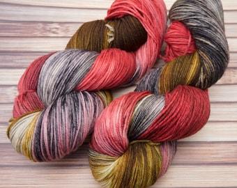 Fred - Targhee Sock Yarn, hand dyed yarn -- In stock