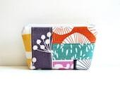 Small Patchwork Cosmetic Case, Zipper Pouch, Makeup Bag, Women and Teens, Lotta Jansdotter Fabrics
