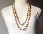 Vintage Napier Necklace, 61 inch Necklace, Unique Flat Link Chain, Flapper Length Necklace, Versatile Length Necklace