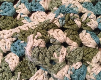 Hand crocheted dish cloths