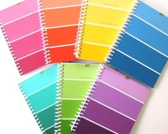PAINT CHIP NOTEBOOK Journal, Kids' Arts and Crafts Birthday Party Favors Painting Party Favors Notepad Card, Boys & Girls