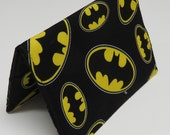 Passport Cover Case Holiday Cruise Travel Holder - Travel - Batman Fabric - Yellow and Black