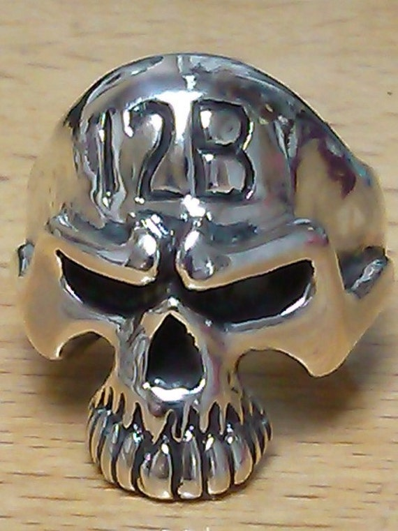 12 Bravo Us Army Combat Engineer Skull Ring