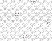 Panda Pandalicious Fabric by Katarina Roccella for Art Gallery Fabrics AGF - Grey and White - Hidden Panda Cottonbud - One Yard Fabric