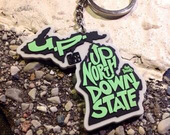 Up North downstate Michigan keychain design
