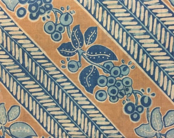 Groovy Patterned Blue & Brown Vintage Pillowcase