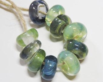 Lampwork Beads  TIDE POOL Two Sisters Designs 072916AB
