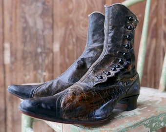 Victorian High Button Boots Size 4.5