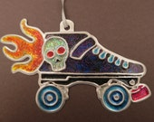 Roller derby ornament or wall decoration. Roller Skate ornament. Derby skate ornament or wall decoration