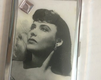 Lena Horne White Glamour 2-Clip Cigarette Credit Card Case Business Card Holder