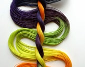 "Size 20 ""Spooky"" hand dyed thread 6 cord cordonnet tatting crochet cotton"