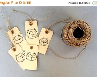 on sale ooak cat art tags hang labels surreal cat tags gifts tags art cute kitty labels surreal cats tags-set of 4+1-free shipping
