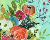 Bouquet of flowers art print by Bari J Boho art wedding Gypsy floral