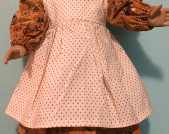 American Girl Doll Clothes Pioneer Dress and Apron - fits Kirsten