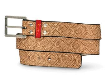 Mayan Temple Leather Belt, Mayan Leather Belt, Ancient Belt, Doomsday Leather Belt, Tropical Leather Belt