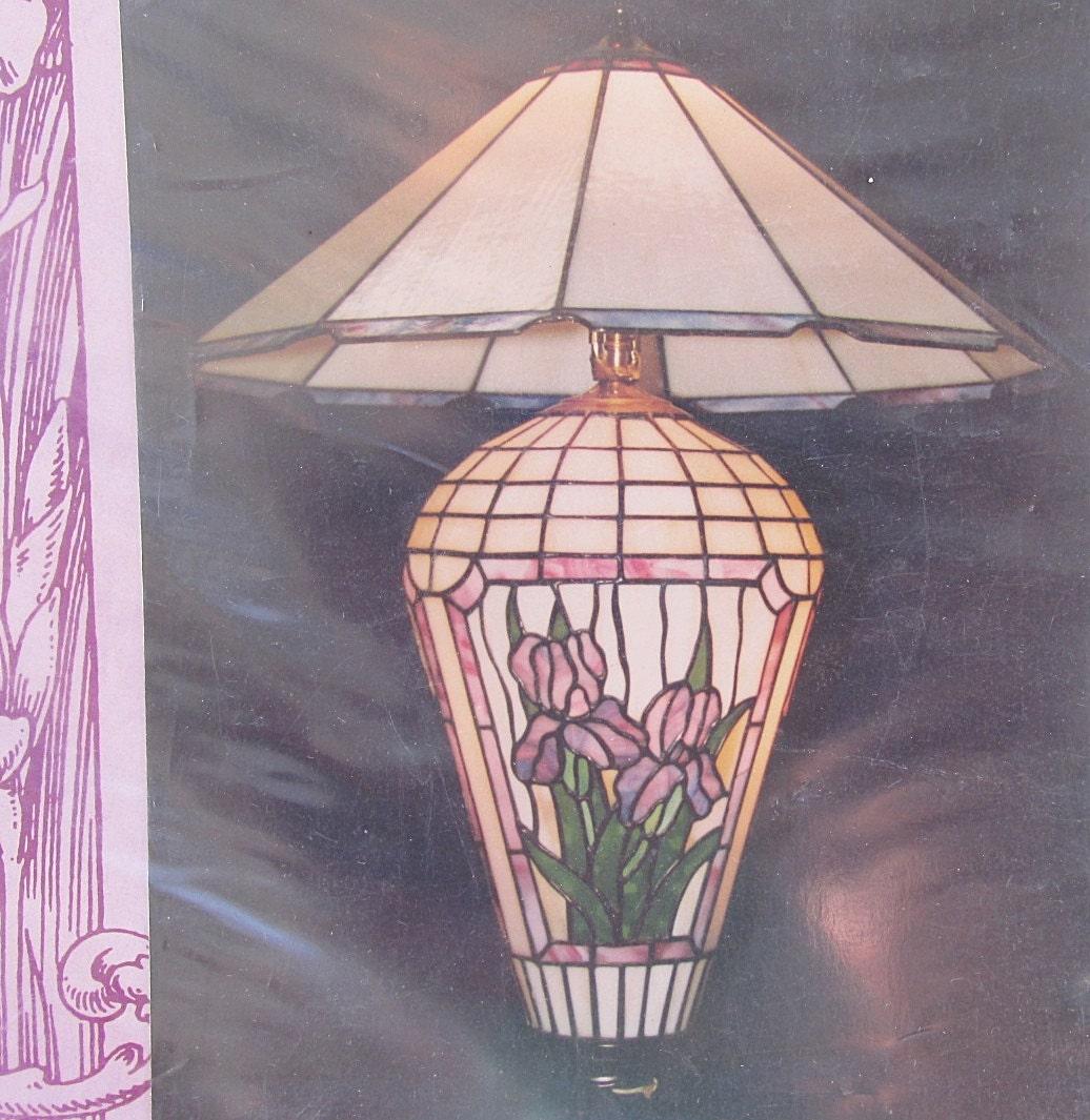 Stained Glass Pattern Bradley Lamp Base LB 10-5 Iris for Full Form ...