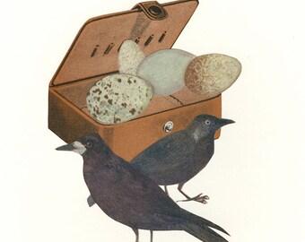 Atypical nest.  Original collage by Vivienne Strauss.