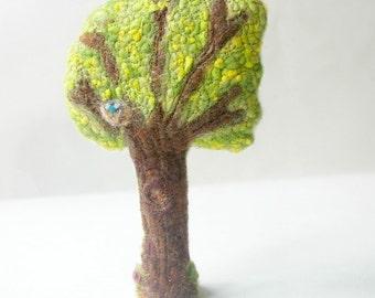 Spring Tree: Handmade Wool and Silk Tree CUSTOM MADE (for Natural or Seasonal Table, Waldorf Inspired)