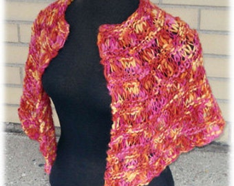 Perfect Hug Shawl - XS to 5X Knitting Pattern PDF