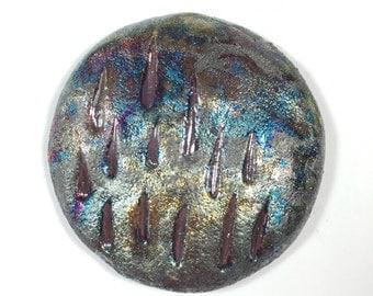 A Tribute To The Artist Formerly Known As Prince Purple Rain Raku Ceramic Cabochon Raku Jewelry Supply Handmade          by MAKUstudio