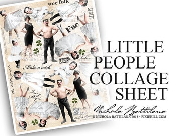 Little People - PDF collage sheet download
