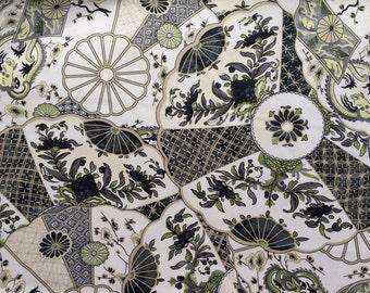Imari in licorice from the Williamsburg Collection Waverly Fabrics - one yard
