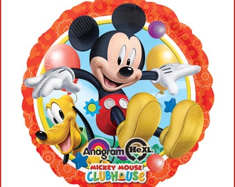 Mickey Mouse (Red) 6-pc Balloon Bouquet (Foil/Latex) Combo