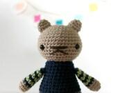 stefan .. plush fox boy toy, animal stuffed plushie, crochet amigurumi
