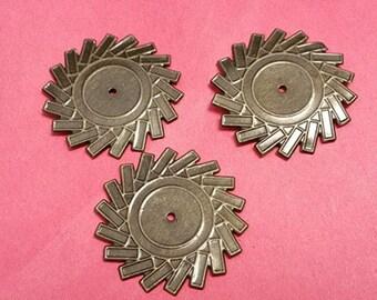 15pc 34mm antique bronze finish iron setting-7265