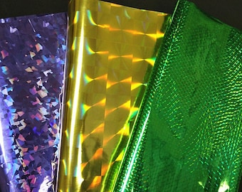5 Sheets of 27x19.5 inch metallic gift wrapper paper-Pick your own color or mix and match