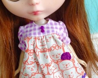 Smock Dress for Blythe - Cat Lady #2