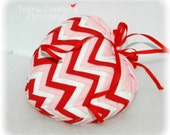 Quilted Heart Ornament Valentine Decoration - Chevron Layers