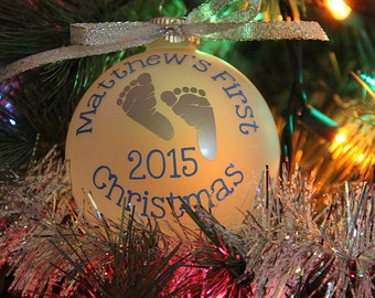 Personalized Baby's First Christmas 2016
