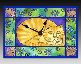 Big Fat Cat Clock