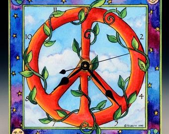 Peace Whale Clock