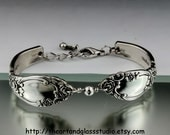 Silver Spoon Bracelet BALLARD Jewelry Vintage, Silverware, Gift, Anniversary, Wedding, Birthday