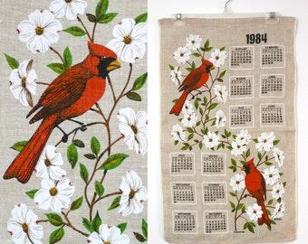 1984 Cardinals linen calendar