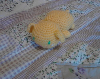 Yellow 7in Toddler Friendly Kitty toy