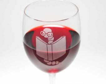 Bookworm Wine Glasses