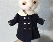 One of a kind  kitty For Taunya felt wool art doll