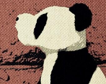 Panda Row Call Print - Mixed Media Art 8 x 10 Print