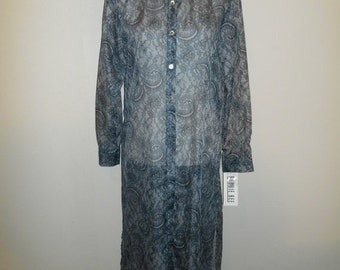 SALE 90s lace floral print sheer see through cover up   dress      New With Tags