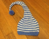 MOVING SALE!! Hand knit Elf hat, Photo Prop