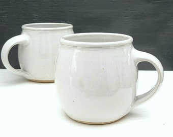 made to order - 12 oz rustic white coffee mug
