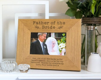 Father of the Bride / Groom Gift Photo frame / Picture frame