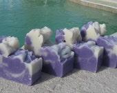 4 Big Bars Cold Process Soap Lavender Huge Bars Olive Oil
