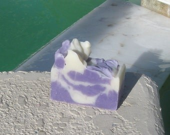 Lavender  Cold Process Soap Large Vegan  5 oz    buy any 3-6 bars 5.50 Shipping