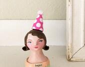 HAPPY art doll original sculpture bust
