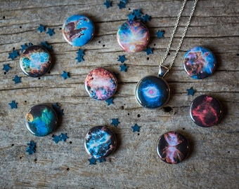 MAGNETS ONLY - Nebula Magnets for Interchangeable Galaxy Jewelry - Helix, Orion, Carina, Butterfly, Pillars of Creation, Crab, Omega, Heart